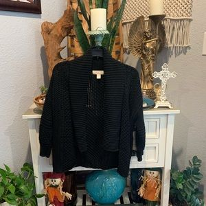 Michael kors black knit cardigan